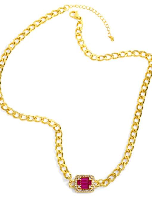 CC Brass Cubic Zirconia Geometric Vintage Necklace 3