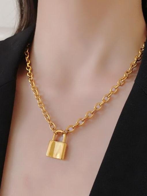 A TEEM Titanium Locket Vintage Hollow Chain Necklace 1