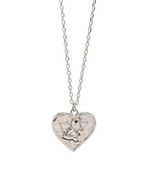 Dak Phoenix 925 Sterling Silver Heart  angel Vintage pendant Necklace 4