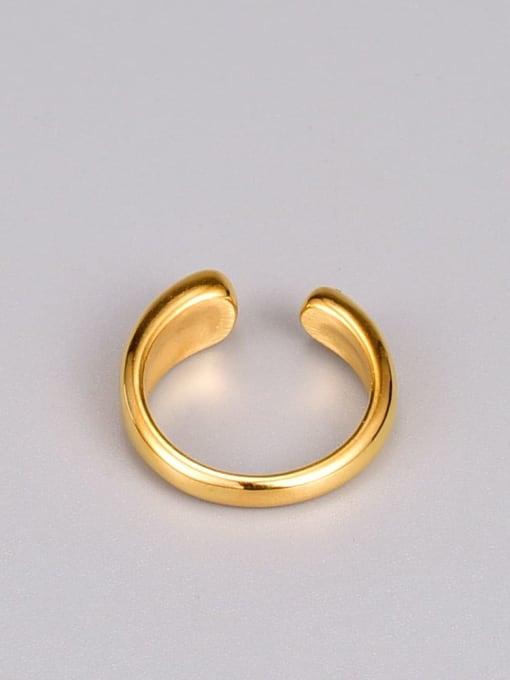 A TEEM Titanium Steel Water Drop Minimalist Band Ring 1