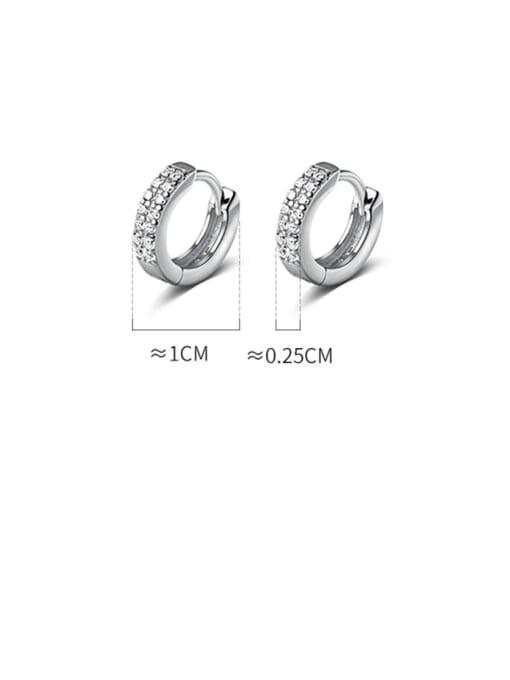 Rosh 925 Sterling Silver Cubic Zirconia Geometric Dainty Cluster Earring 3