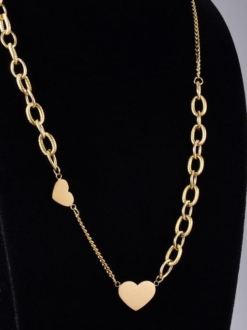 A TEEM Titanium Steel Heart Minimalist Necklace 0