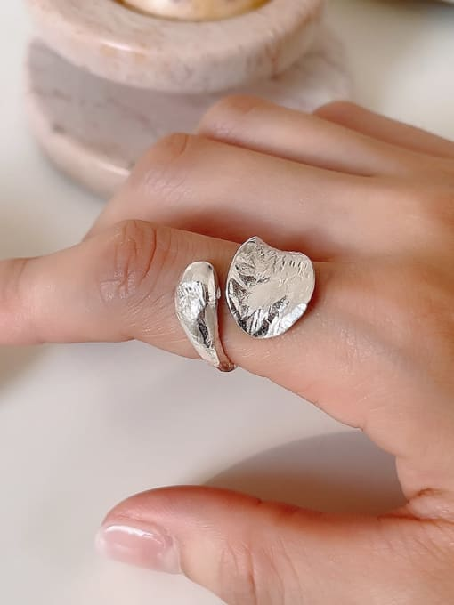 Boomer Cat 925 Sterling Silver Water Drop Vintage Band Ring 4