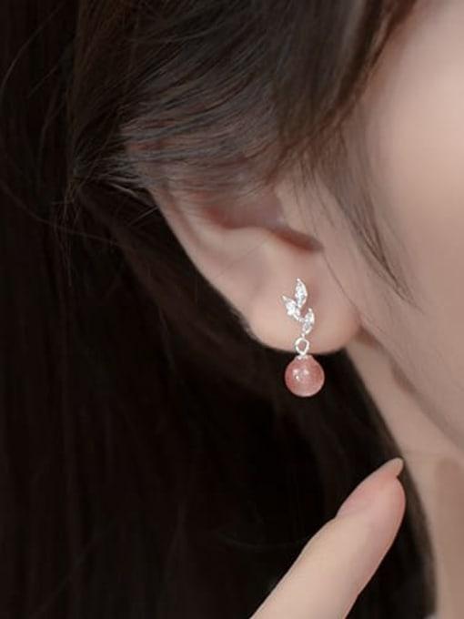 Rosh 925 Sterling Silver Resin Irregular Cute Drop Earring 2
