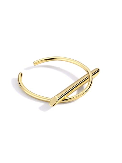 CHARME Brass Irregular Minimalist Band Ring 0