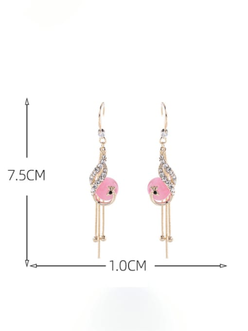 Luxu Brass Cubic Zirconia Tassel Trend Hook Earring 3