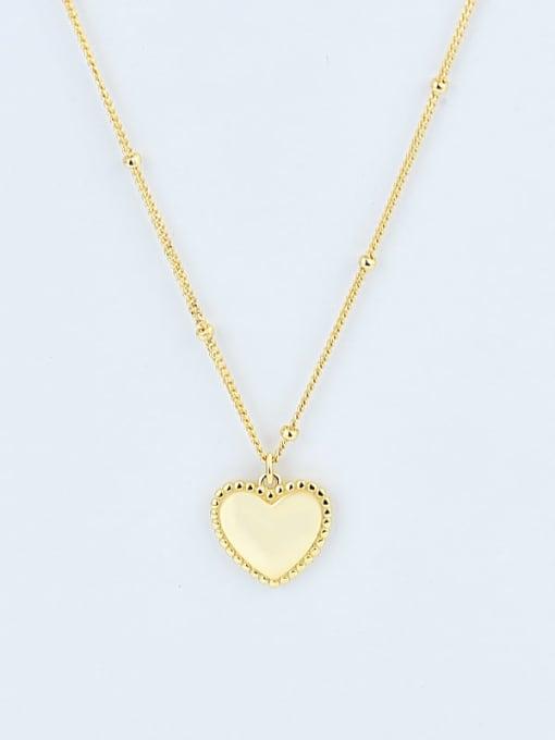 18K Gold 925 Sterling Silver Smooth Heart Vintage Pendant Necklace