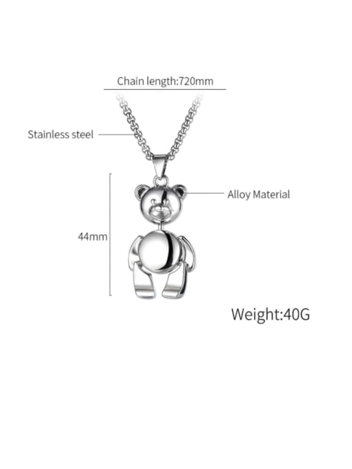 Open Sky Alloy  Hip Hop teddy bear Necklace 3