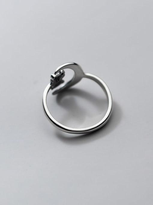 Rosh 925 Sterling Silver Bear Vintage Band Ring 4