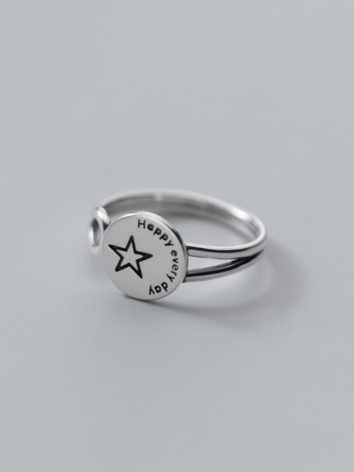 Rosh 925 Sterling Silver Geometric Vintage Band Ring 2