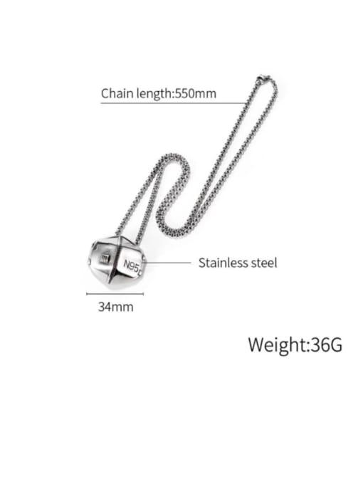 Open Sky Titanium Steel Geometric Hip Hop Necklace 3