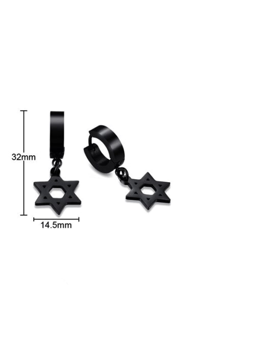 CONG Titanium Steel Geometric Minimalist Huggie Earring 1