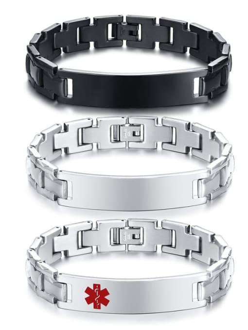 CONG Stainless steel Geometric Hip Hop Bracelet 0