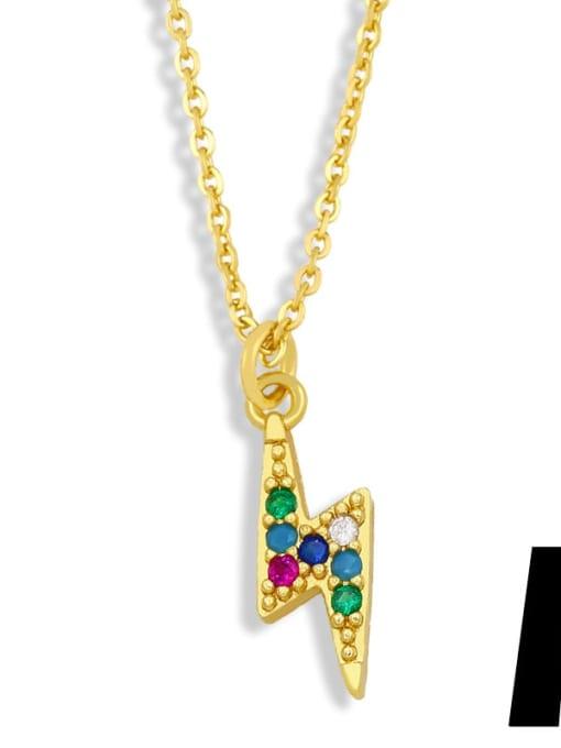 A Brass Cubic Zirconia Star Hip Hop Necklace