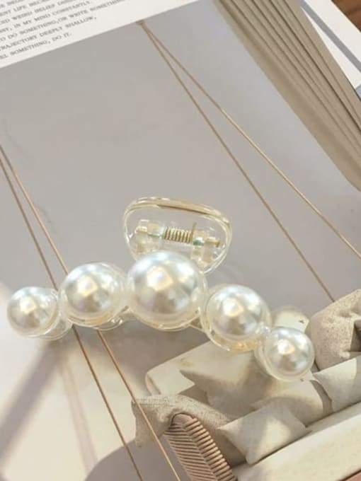 20 out of five Alloy Cellulose Acetate Minimalist Geometric  Imitation Pearl Jaw Hair Claw