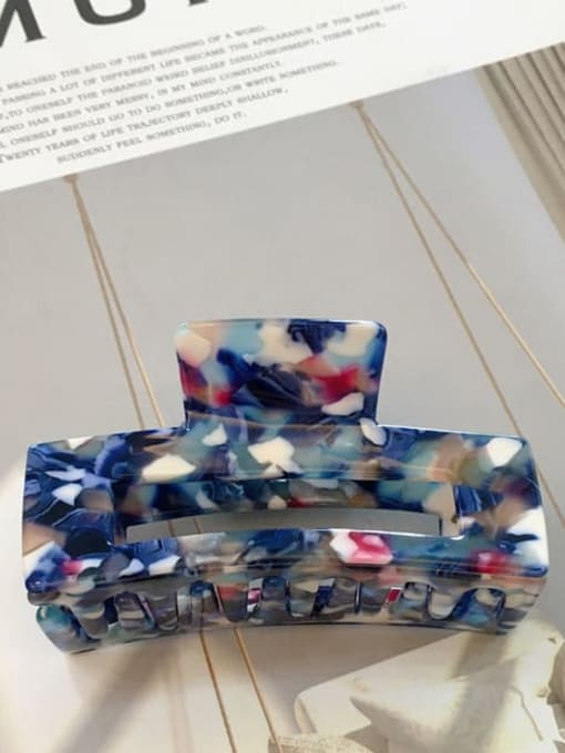 F119 Floral Blue Tail sheet Cellulose Acetate Trend Geometric Hair Pin