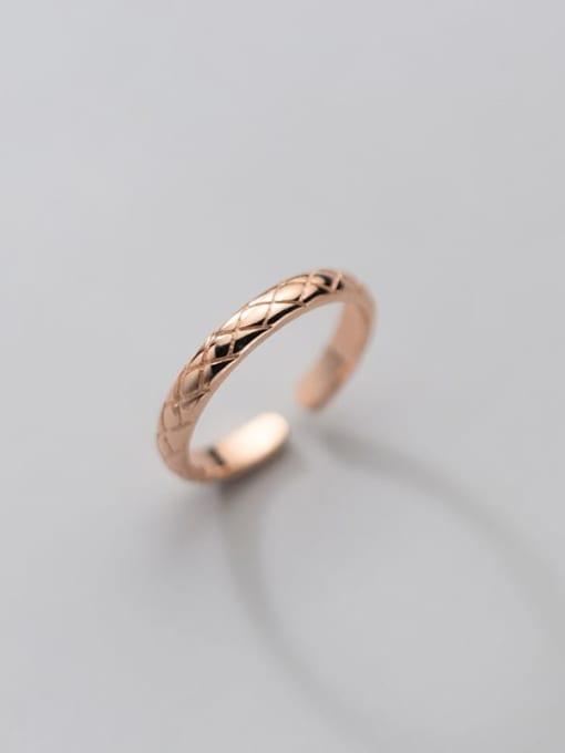 Rosh 925 Sterling Silver Rhinestone Round Minimalist Band Ring 2