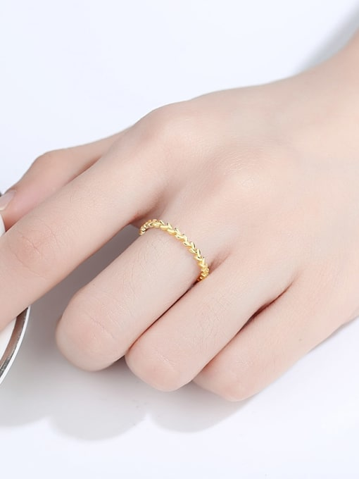 CCUI Brass Geometric Minimalist Band Ring 1