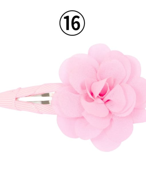 16 light pink Alloy Yarn Minimalist Flower  Multi Color Hair Barrette