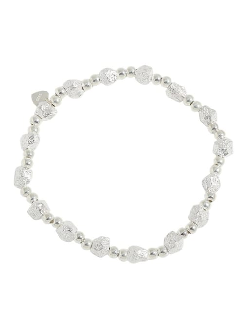 DAKA 925 Sterling Silver Geometric Vintage Beaded Bracelet 3