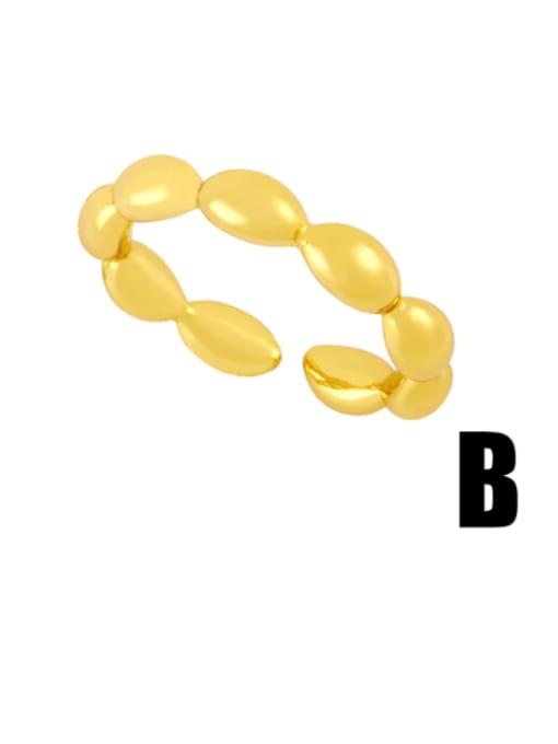CC Brass Bead Geometric Minimalist Band Ring 3