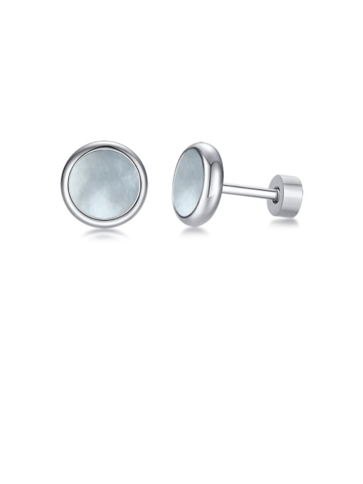 Style 2 Stainless steel Turquoise Round Vintage Stud Earring