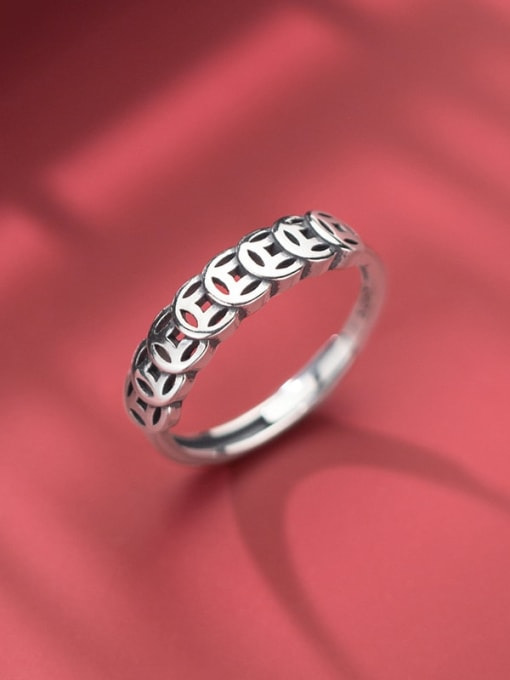 Rosh 925 Sterling Silver Round Vintage Band Ring 0
