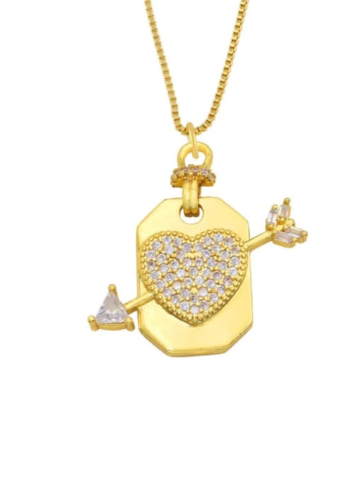 CC Brass Cubic Zirconia Star Hip Hop Necklace