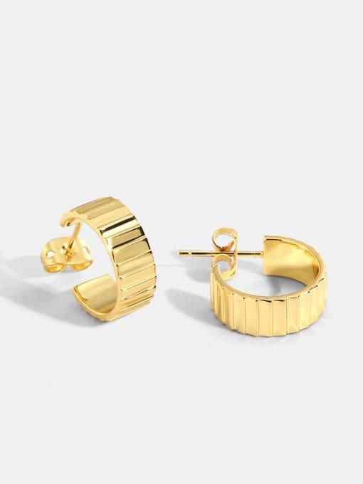 CHARME Brass Geometric Vintage Stud Earring