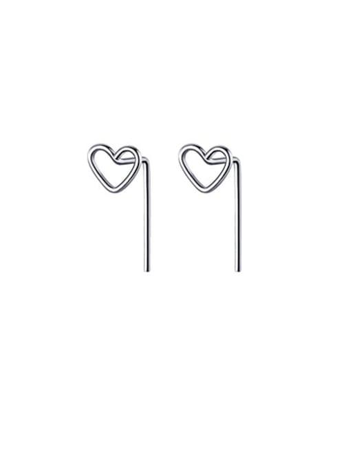 Rosh 925 Sterling Silver Heart Minimalist Stud Earring 0