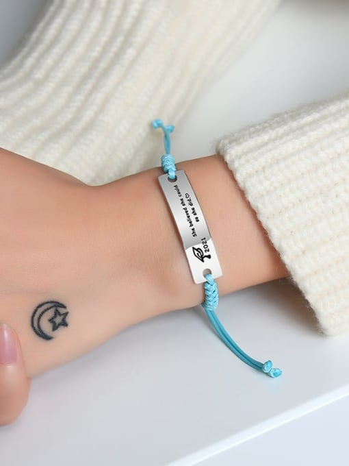 CONG Stainless steel Geometric Minimalist Woven Bracelet 4