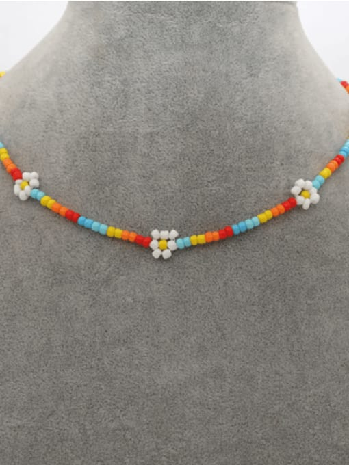 Roxi Stainless steel Bohemia Flower Bead Multi Color Bracelet and Necklace Set 3