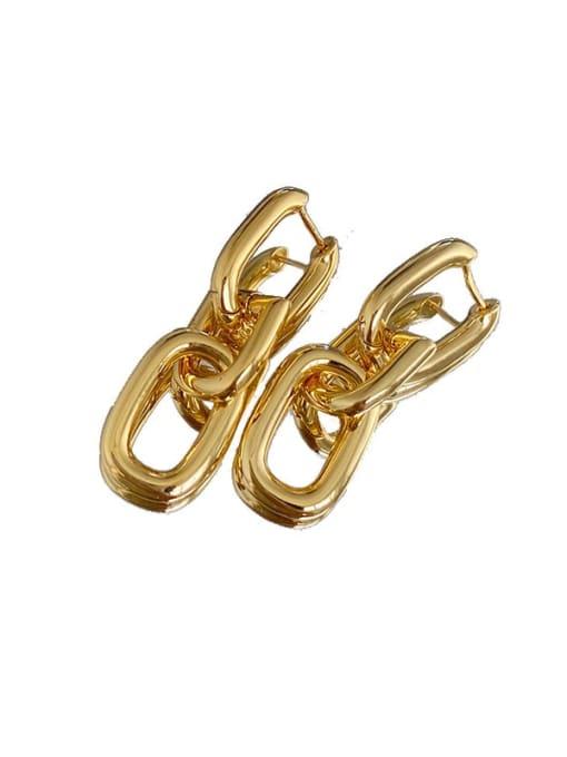 LI MUMU Brass Hollow Geometric Vintage Drop Earring 3