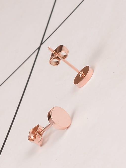 A TEEM Titanium Steel Round Minimalist Stud Earring 3