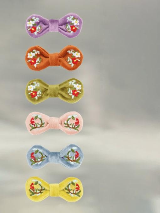YOKI KIDS Alloy  Fabric Cute Bowknot Hair Barrette 1