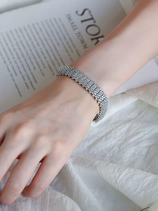 DUDU Brass Cubic Zirconia Geometric Luxury Bracelet 1