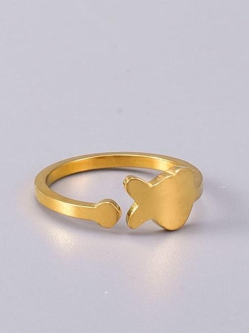 A TEEM Titanium Steel Fish Minimalist Band Ring 1