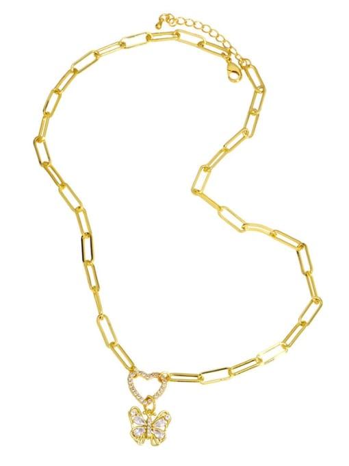 CC Brass Cubic Zirconia Letter Hip Hop Heart Pendant Necklace 3