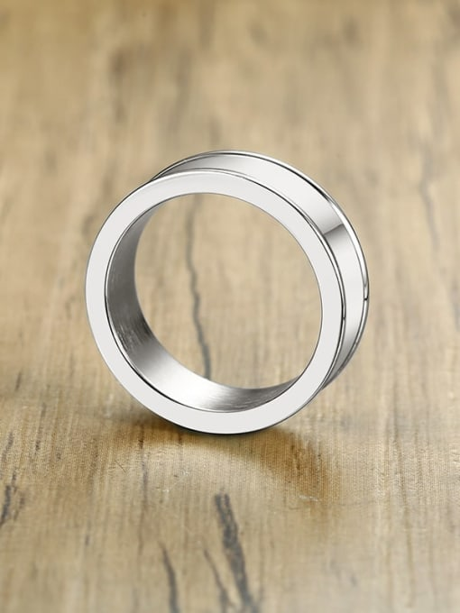 CONG Stainless steel Smooth Geometric Minimalist Band Ring 3