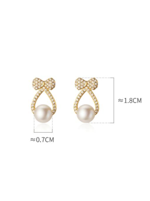 Rosh 925 Sterling Silver Cubic Zirconia Cross Minimalist Stud Earring 3