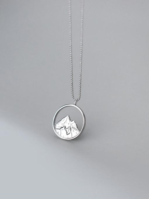 Rosh 925 Sterling Silver Cubic Zirconia Geometric Minimalist Necklace 2