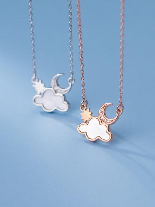 Rosh 925 Sterling Silver Enamel Cloud Minimalist Necklace 3
