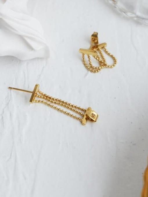 A TEEM Titanium Bead Tassel Vintage Drop Earring 3