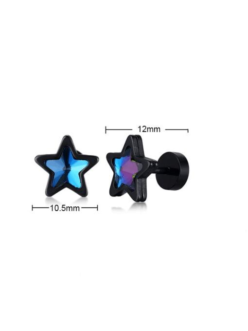 Style 5 Titanium Steel Glass Stone Geometric Minimalist Stud Earring