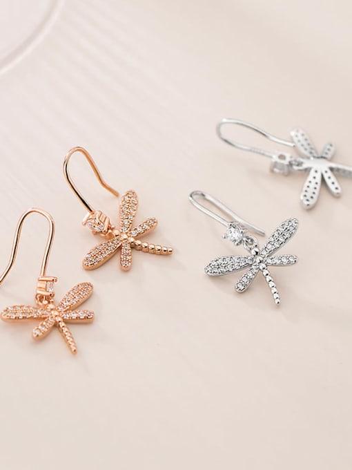 Rosh 925 Sterling Silver Butterfly Dainty Hook Earring 2