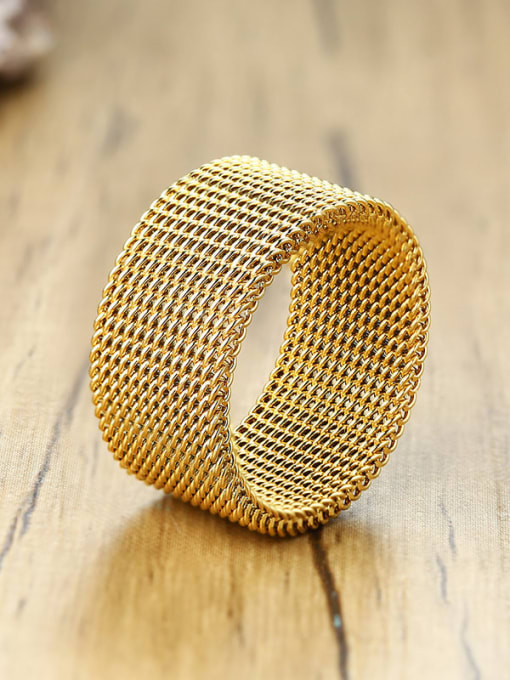 CONG Stainless steel Geometric Ethnic Band Ring 0