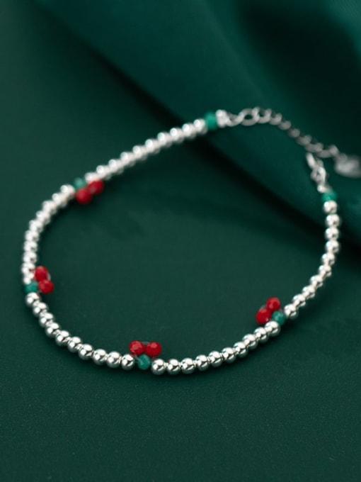 Rosh 925 Sterling Silver Bead Friut Vintage Beaded Bracelet 1