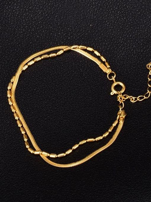 A TEEM Titanium Steel Snake Minimalist Strand Bracelet 0