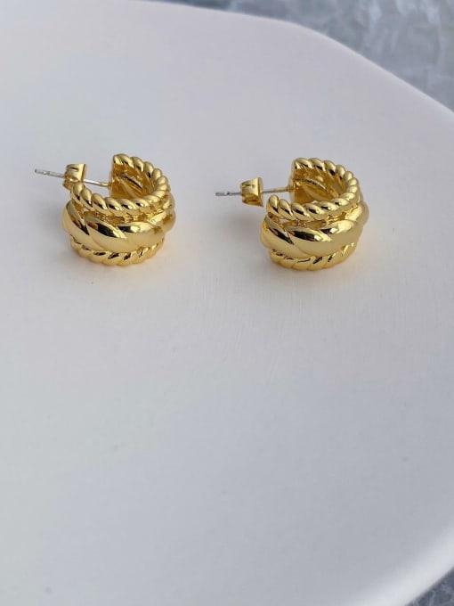 LI MUMU Brass Geometric Vintage Drop Earring 2
