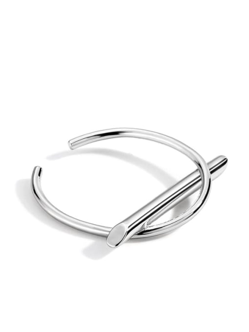 Platinum strip ring Brass Irregular Minimalist Band Ring